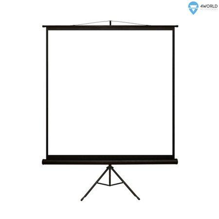4World Ekran projekcyjny na statywie 152x152 (1:1) Matt White