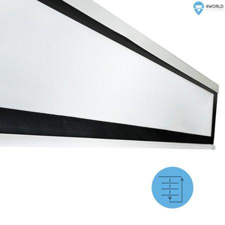 4World Elektryczny Ścienny/Sufitowy Ekran Projekcyjny z Pilotem 127x127 (1:1) Matt White
