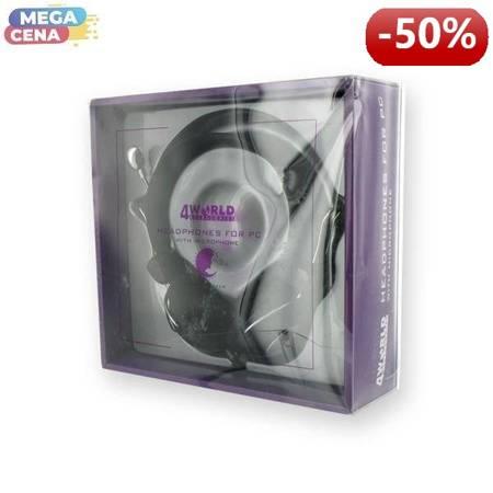 4World Słuchawki PC z mikrofonem KM-610