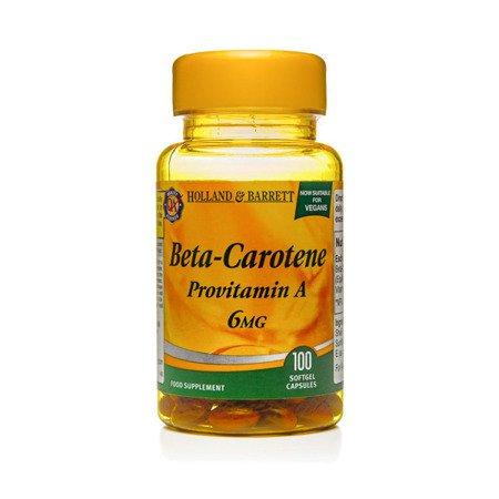 Beta-karoten 6 mg Produkt Wegański 100 Kapsułek Żelowych