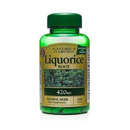 Korzeń Lukrecji 420 mg Produkt Wegański 100 Kapsułek