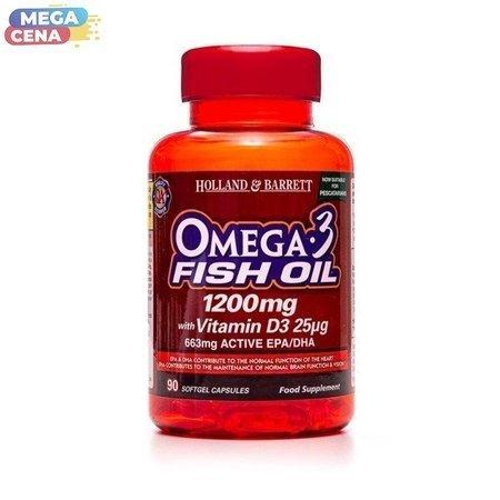 Kwas Omega-3 1200 mg z Witaminą D3 dla Pescowegetarian 90 Kapsułek Żelowych