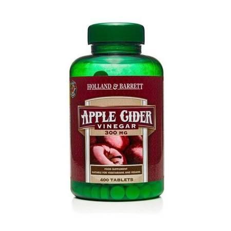 Ocet Jabłkowy 300 mg 400 Tabletek
