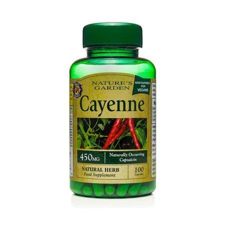 Pieprz Cayenne 450 mg Produkt Wegański 100 Kapsułek Żelowych