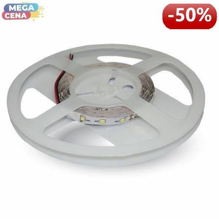 V-TAC Taśma LED SMD VT-3528 60/300 3,6W/18W 3000K IP20 12V 5mx8mm