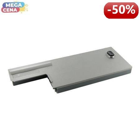 Whitenergy High Capacity Bateria Dell Latitude D820 11,1V 6600mAh metaliczna szara
