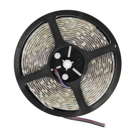 Whitenergy Taśma LED 5m 30szt/m SMD5050 7.2W/m 12V IP65 10mm RGB bez konektora