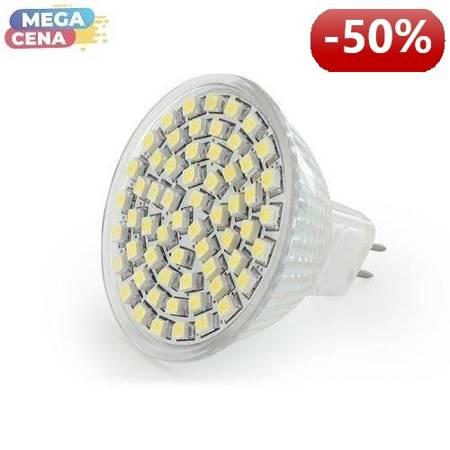 Whitenergy Żarówka LED 3W  GU5.3 MR16 SMD3528 ciepła 12V Halogen / bez szybki