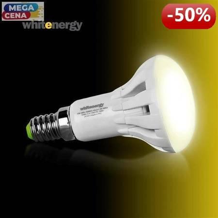 Whitenergy Żarówka LED 5.5W  E14 R50 SMD3030 ciepła 230V Reflektor / mleczne