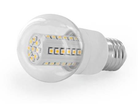Whitenergy Żarówka LED B50 E27 2,3W  Zimna biała Przezroczysta