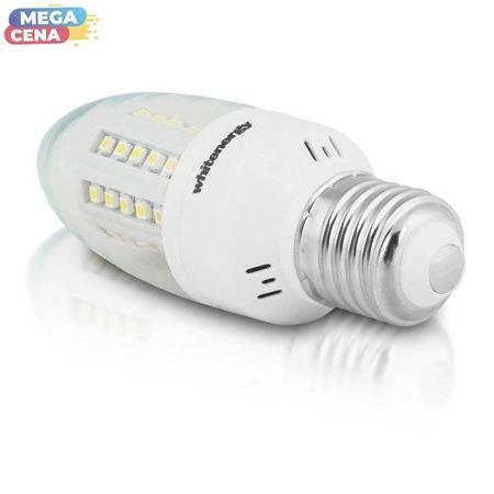 Whitenergy Żarówka LED C35 5W 3,5W  Ciepła biała Przezroczysta