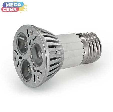 Whitenergy Żarówka LED MR16 E27 2,5W 165lm Zimna biała Szkło