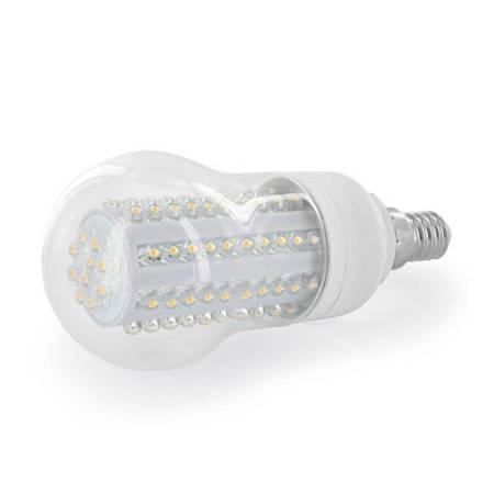Whitenergy Żarówka LED P55 E14 4,5W  Ciepła biała Przezroczysta