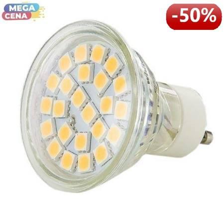 Whitenergy Źródło LED|24xSMD5050|MR16|GU10|3.5W|230V|ciepłe białe|bez szybki