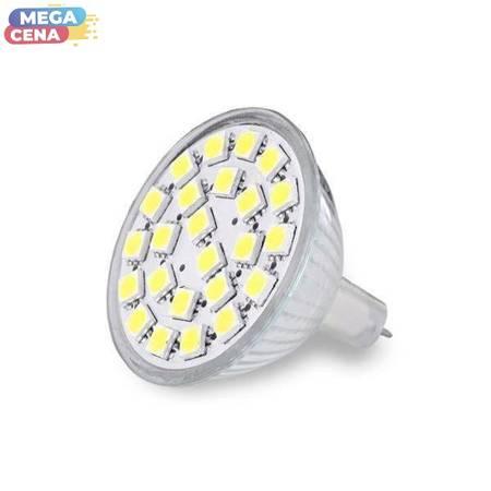 Whitenergy Źródło LED 24xSMD5050 MR16 GU5.3 3.5W 12V ciepłe białe bez szybki