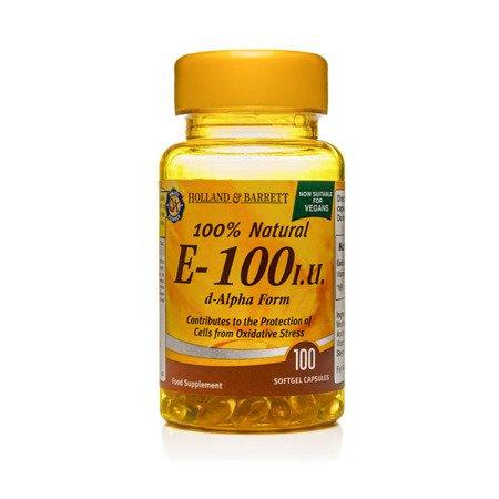 Witamina E 100 j.m. Produkt Wegański 100 Kapsułek Żelowych