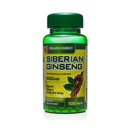 Żeń-szeń Syberyjski 500 mg 100 Tabletek