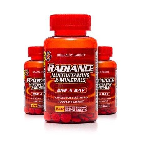 Zestaw 2+1 (Gratis) Radiance Multiwitaminy i Minerały 1 na Dzień 240 Tabletek