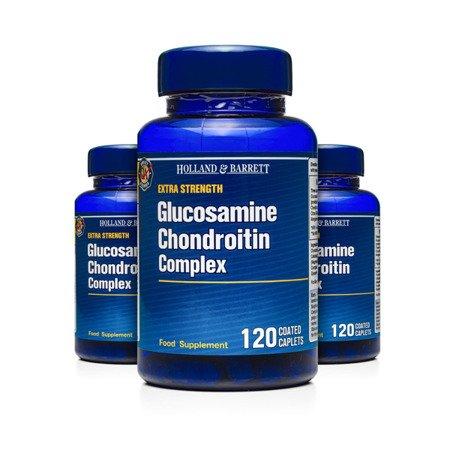 Zestaw Suplementów 2+1 (Gratis) Ekstra Mocny Kompleks Glukozaminy i Chondroityny 120 Kapletek