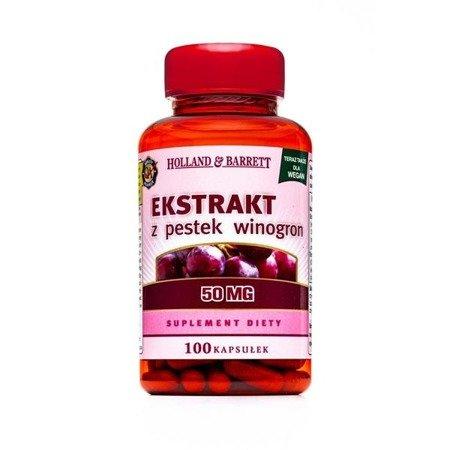 Zestaw Suplementów 2+1 (Gratis) Ekstrakt z Pestek Winogron 50mg 100 Kapsułek