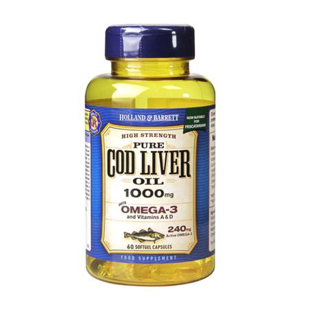 Zestaw Suplementów 2+1 (Gratis) Olej z Wątroby Dorsza 1000 mg dla Pescowegetarian 60 Kapsułek Żelowych