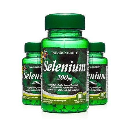 Zestaw Suplementów 2+1 (Gratis) Selen 200 ug 100 Tabletek