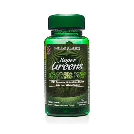 Zestaw Suplementów 2+1 (Gratis) Super Greens 500 mg 60 Kapsułek