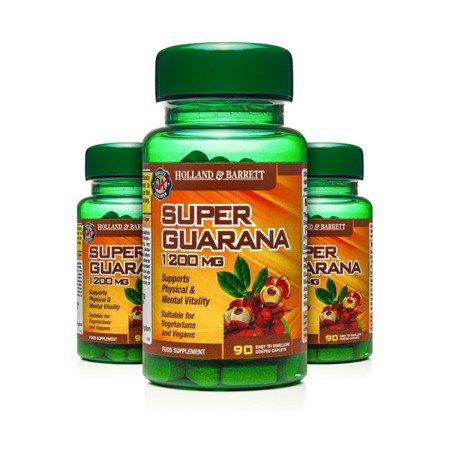 Zestaw Suplementów 2+1 (Gratis) Super Guarana 1200 mg 90 Kapletek