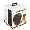 Whitenergy Ładowarka samochodowa kubek, rozdzielacz gniazda zapalniczki, 2+ 2x USB, wyjście 5V/ 3.1A, czarna